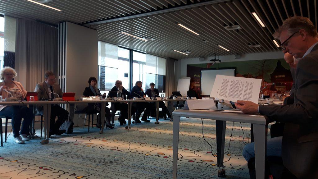 Commissie vergadering provinciale Staten in Gemeentehuis Arnhem